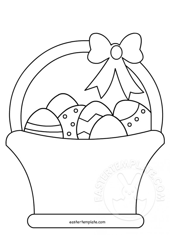 easter picture templates - easter egg coloring page template