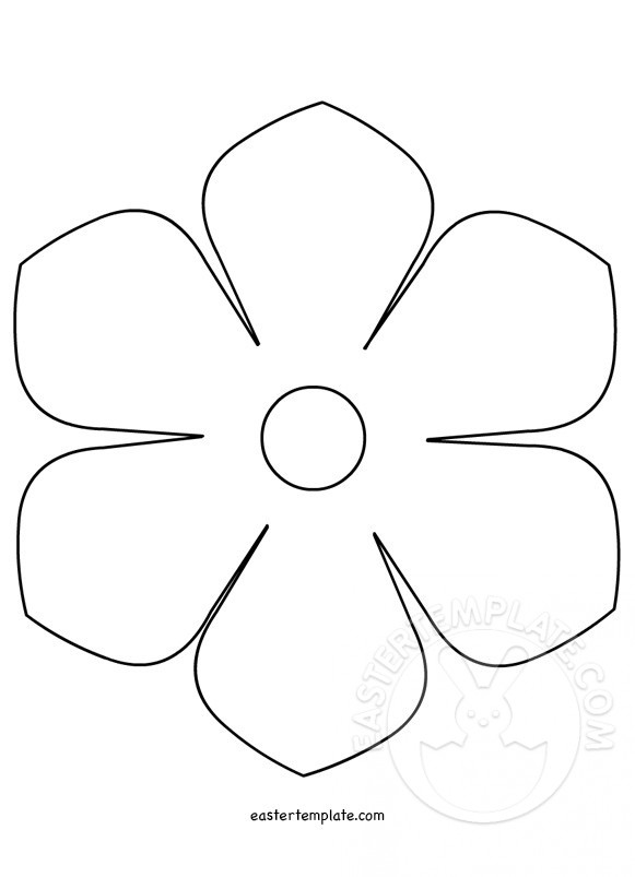 graphic relating to Daisy Template Printable titled Printable flower template Easter Template