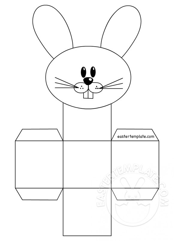 Print The Rabbit Box Template Easter Template