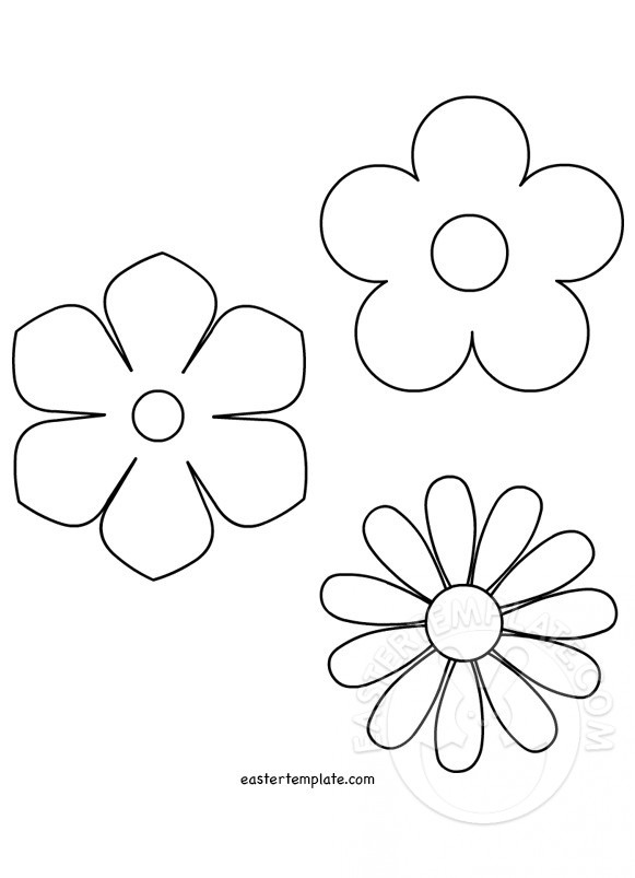 spring flower template easter template