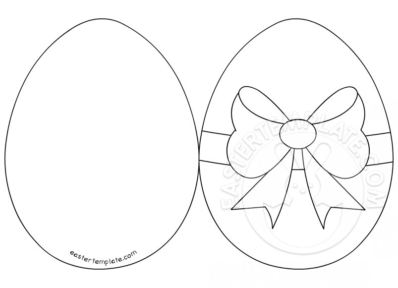 Easter Egg Card   Easter Template vd9mp4cA