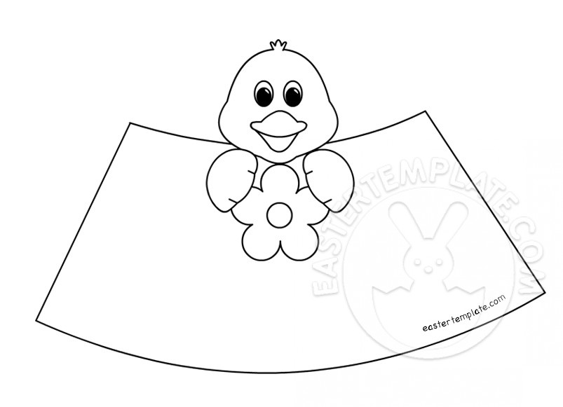 Easter cone paper toys chick easter template for Easter chick templates free