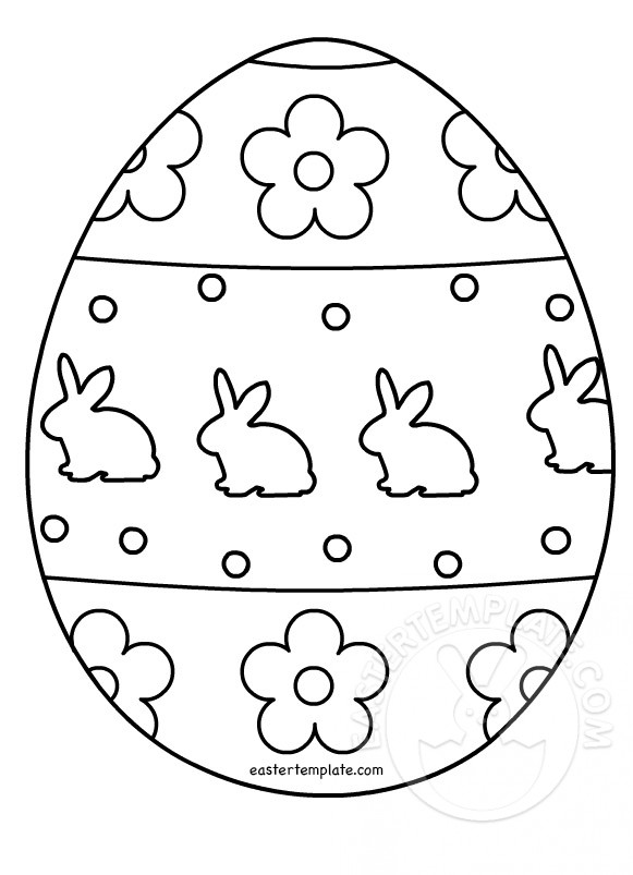 Easter Egg Templates. Easter Egg Colouring Page ...