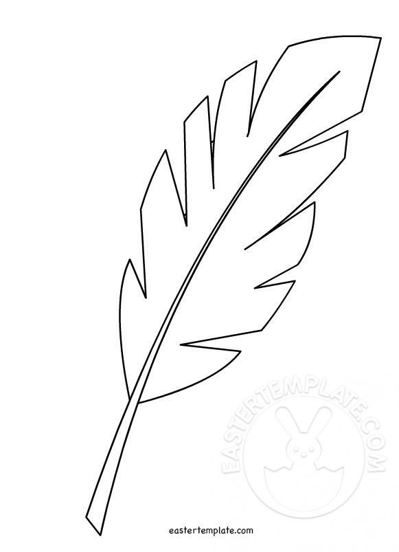 graphic regarding Palm Leaf Template Printable titled Hosanna Palm Leaf Easter Easter Template