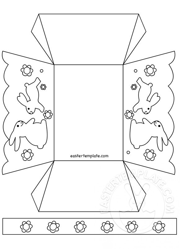 Paper Easter basket coloring page