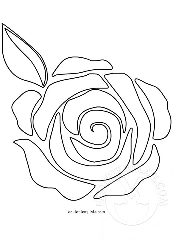 Rose Flower Template coloring page