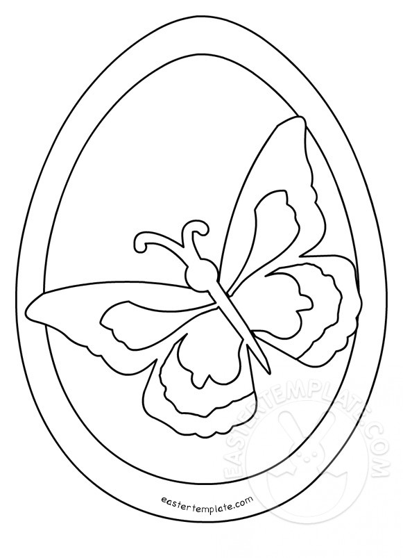 Easter Egg Butterfly Coloring Page Easter Template