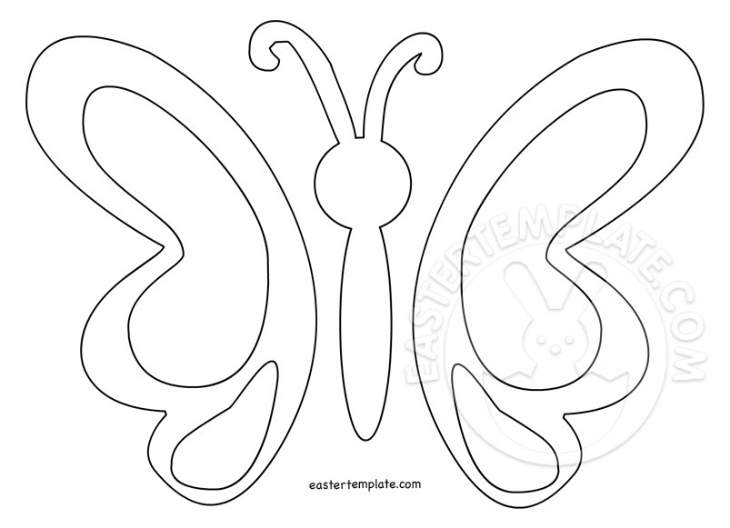 Simple Butterfly Template - Easter Template
