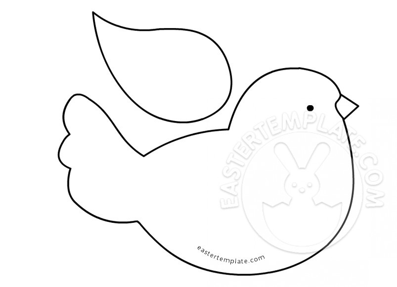 Printable Bird Pattern Template Easter Template – Bird Template