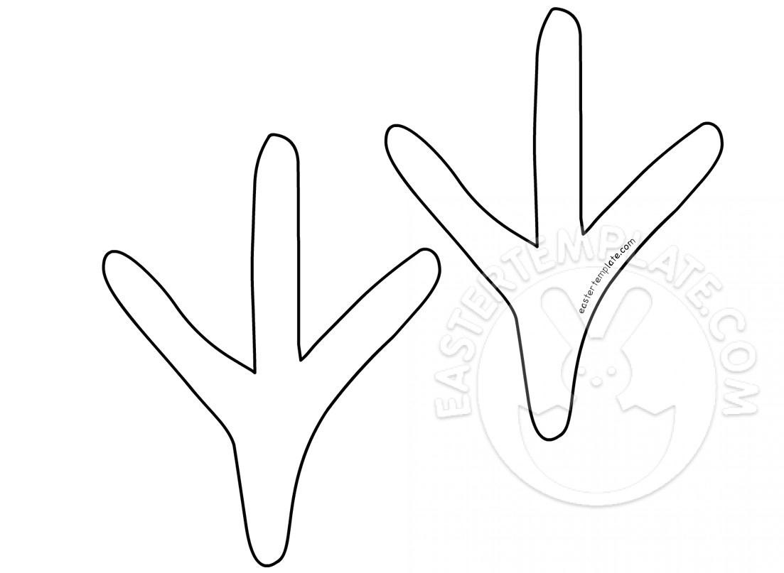 Easter Template Chicken Feet
