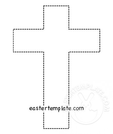 photo about Religious Cross Template Printable known as Printable Easter worksheet Cross Easter Template