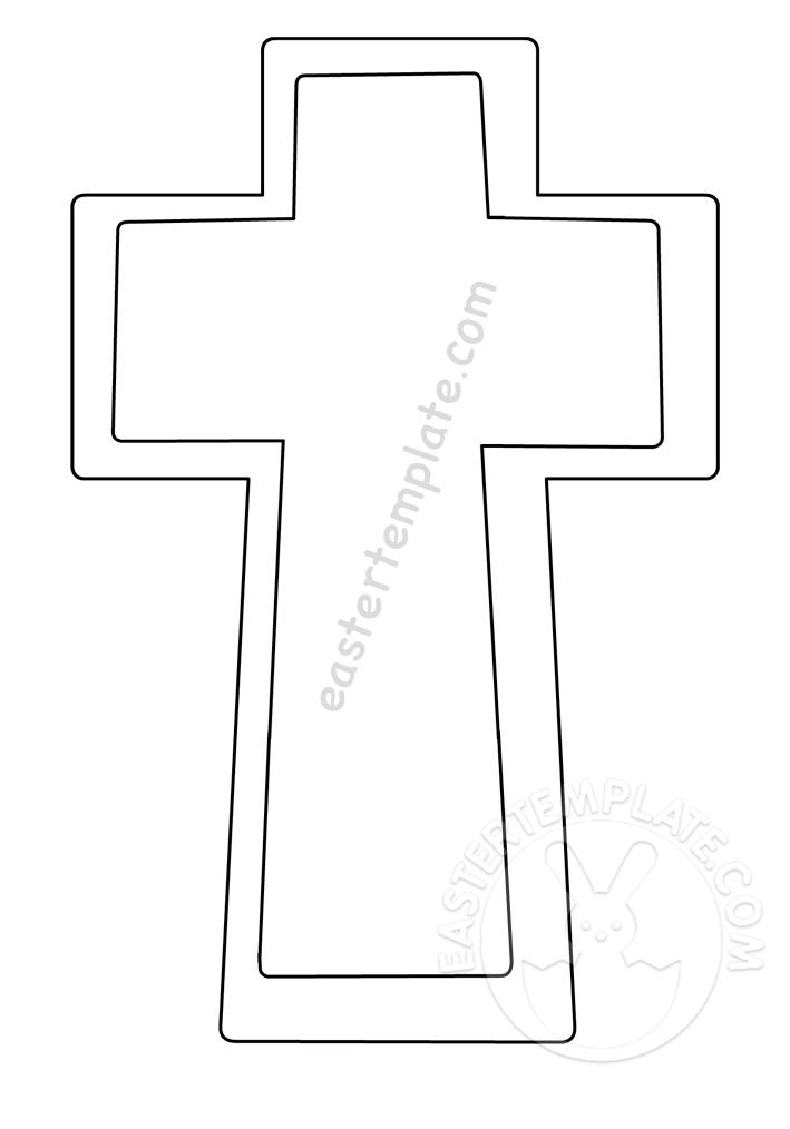 picture regarding Free Printable Cross Template identified as No cost Printable Cross template Easter Template