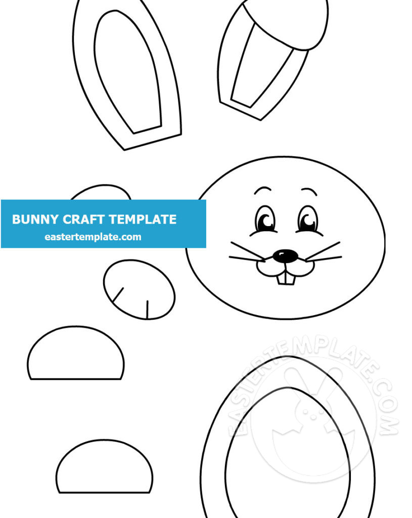 Happy Paper Bunny Craft Template Easter Template