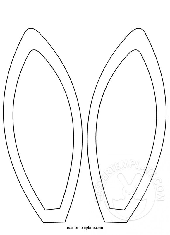 Bunny ears coloring page coloring page for Bunny ears headband template