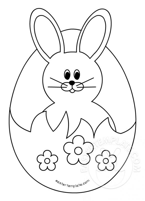 Easter Bunny in a broken egg | Easter Template