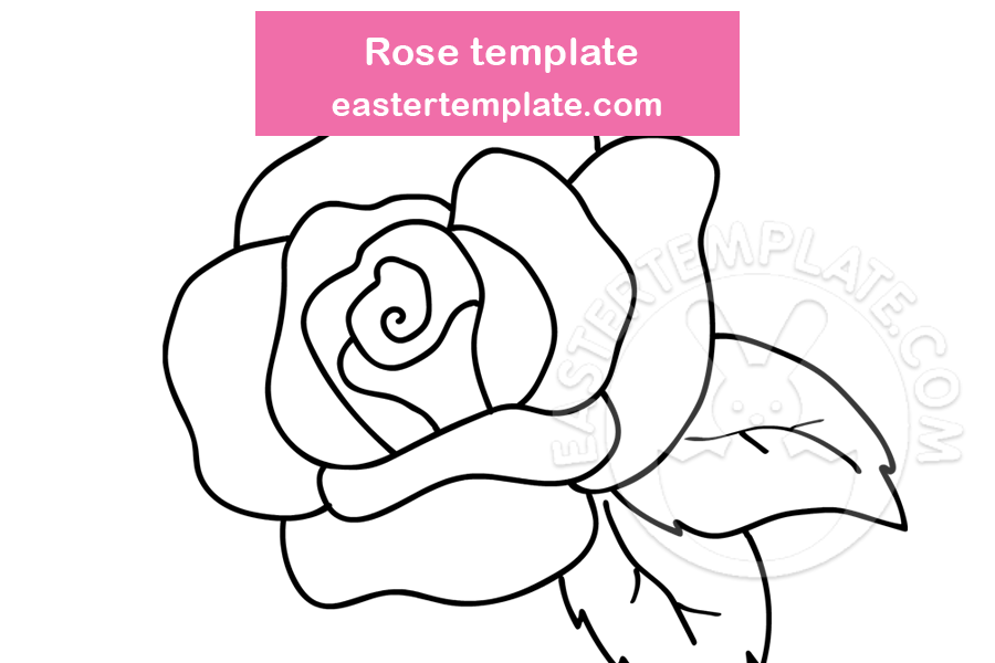 Rose Template Printable Easter Template